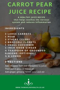 Carrot Pear Juice Recipe Infographic - Juice Infographic