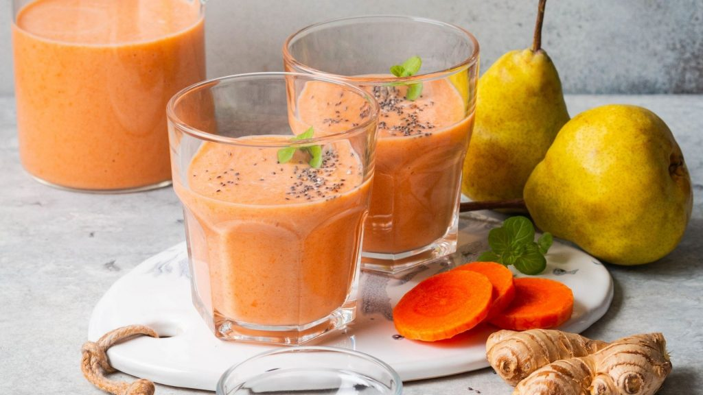 Carrot Pear Juice Recipe