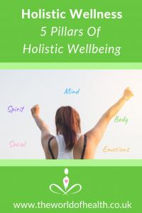 holistic wellness 5 pillars of holistic wellbeing