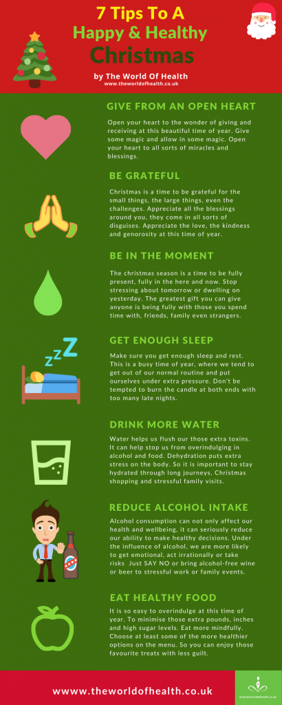 top tips to a happy healthy christmas infographic