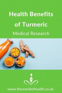 health benefits of turmeric, medical research on turmeric